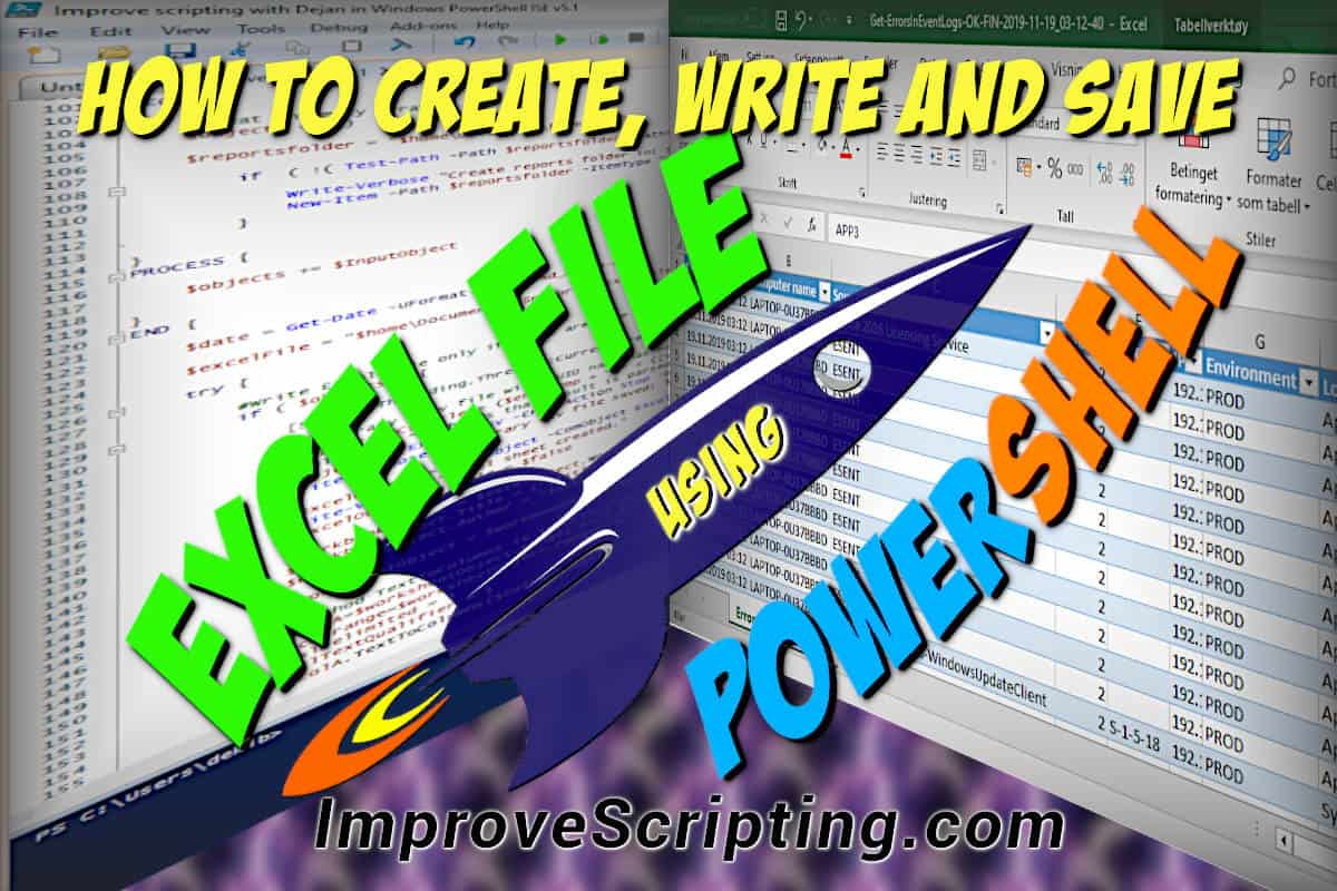 How To Create An Excel File Using PowerShell