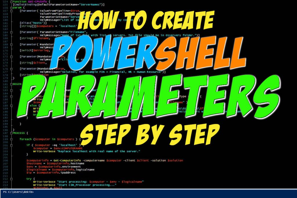 How To Create Parameters In PowerShell Step By Step