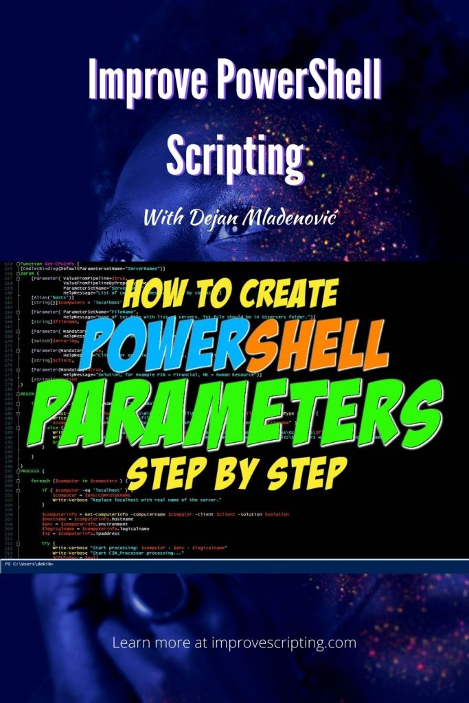 How To Create Parameters In PowerShell Step By Step Pinterest