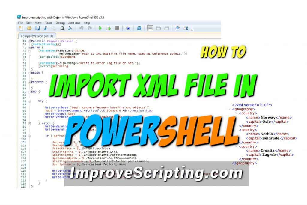 How To Import XML File In PowerShell Featured
