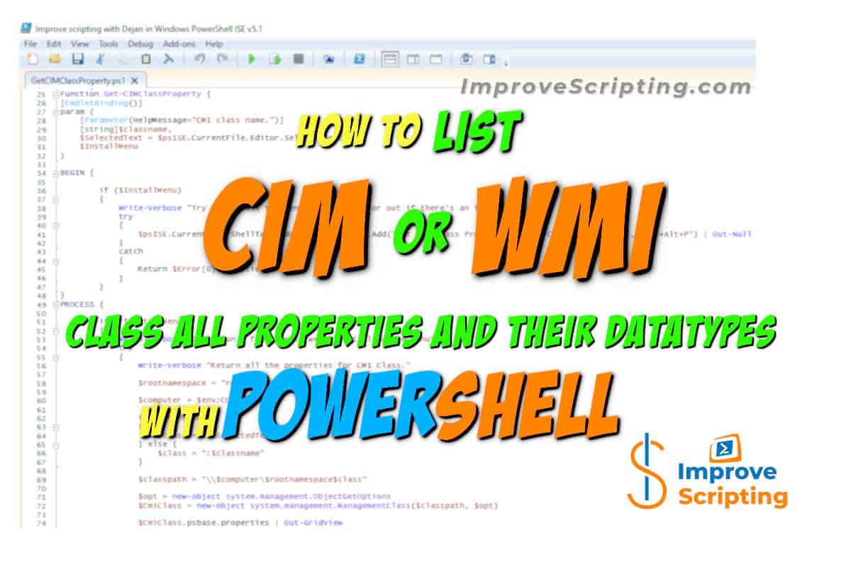 How To List CIM Or WMI Class All Properties And Their Datatypes With PowerShell Featured