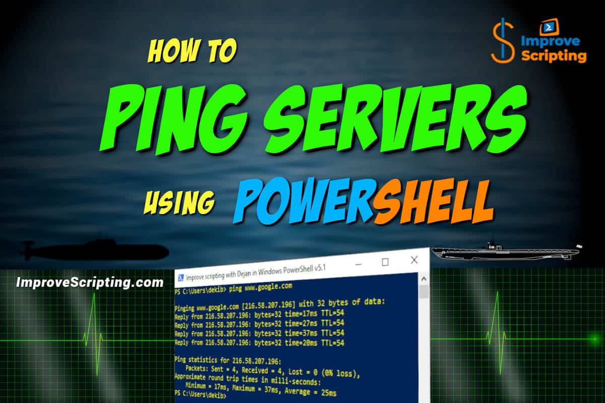 How To Ping Servers Using PowerShell