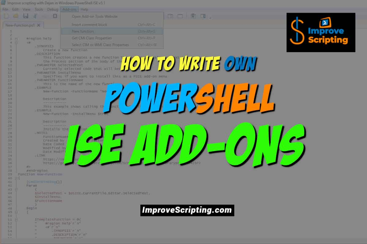 How To Write Own PowerShell ISE Add-ons Featured