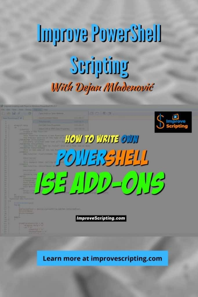 How To Write Own PowerShell ISE Add-ons Pinterest