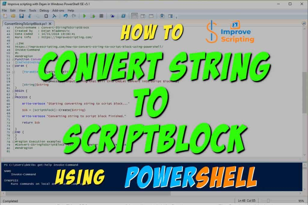 How To Convert String To Script Block Using PowerShell