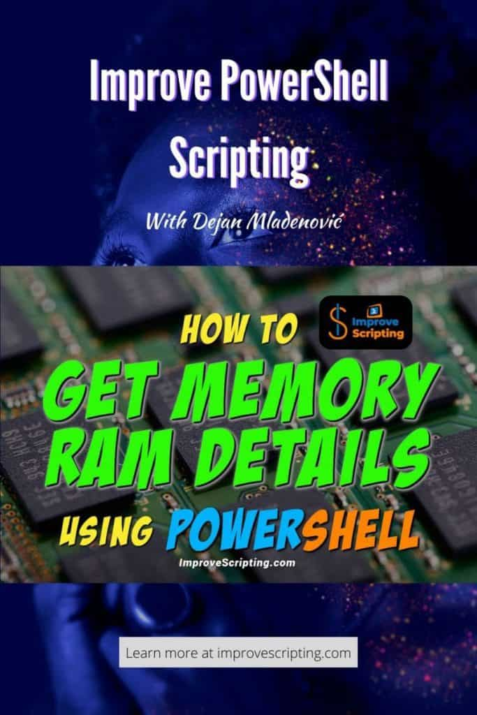 How To Get Memory RAM Details Using PowerShell Pinterest