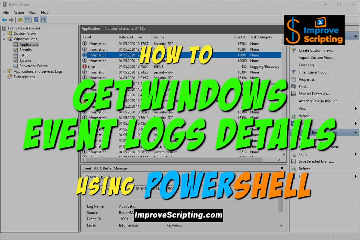 How To Get Windows Event Logs Details Using PowerShell Featured
