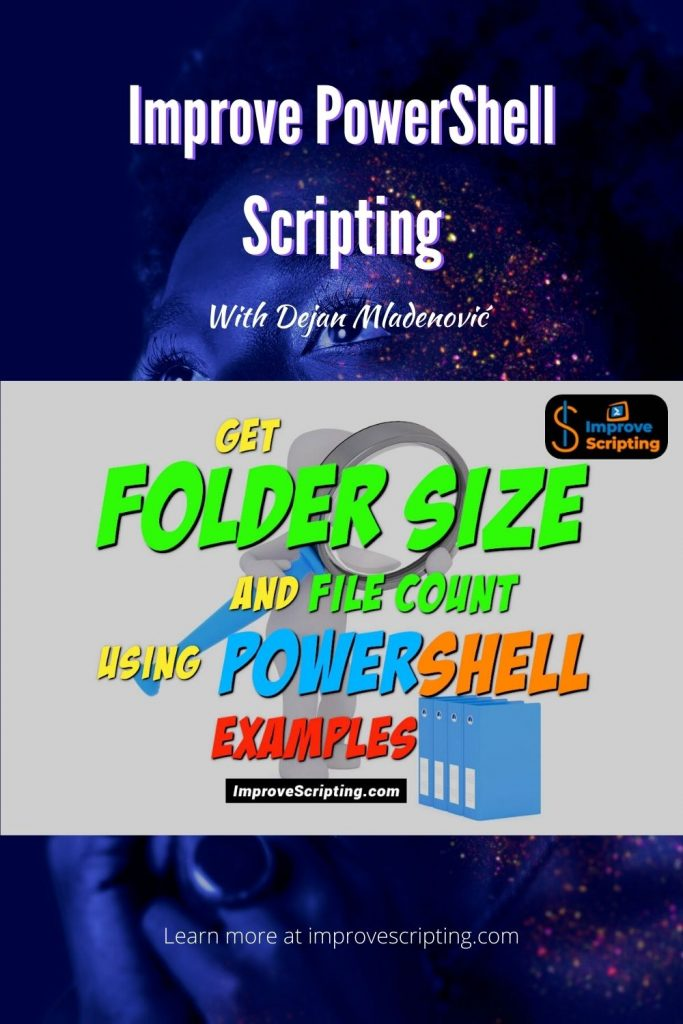 Get Folder Size And File Count Using PowerShell Examples Pinterest